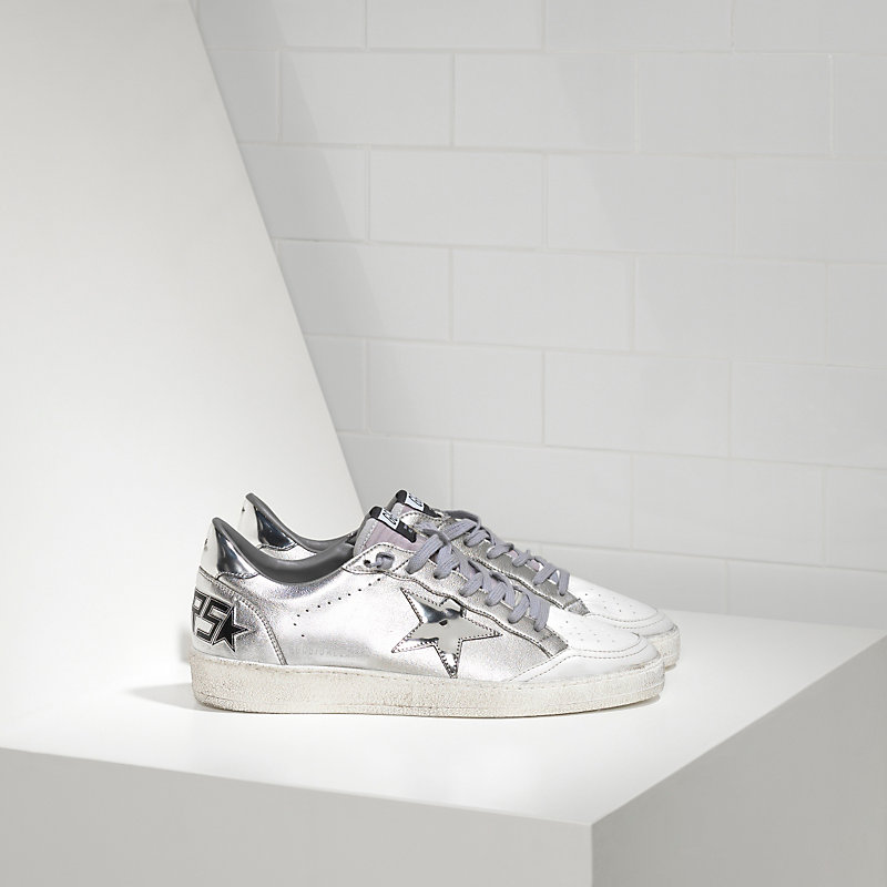 Golden Goose Deluxe Brand Ball Star Sneakers In Leather With Leather Star