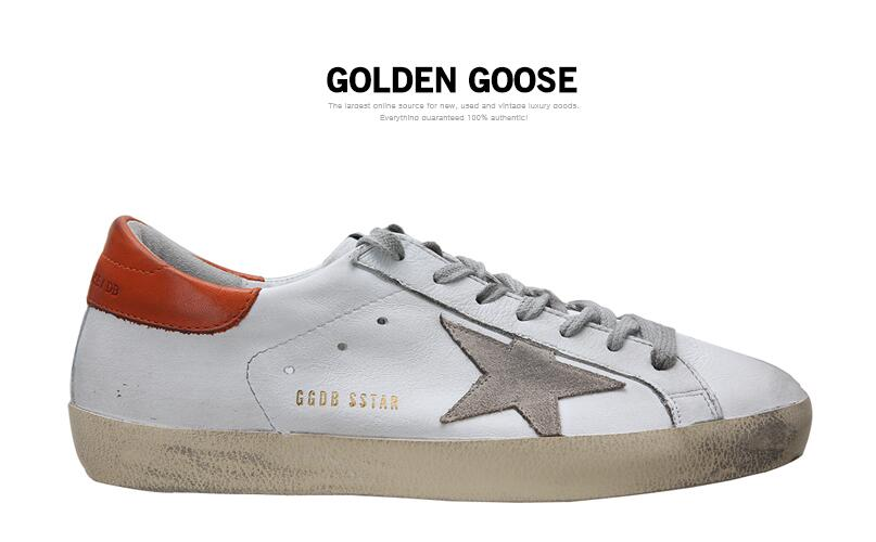 Golden Goose Deluxe Brand Womens Super Star Sneakers In White Leather And Red Back With Suede Star