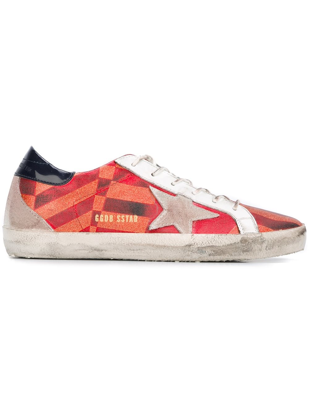Golden Goose Men Super Star Sneakers In Flat Rubber With Suede Star