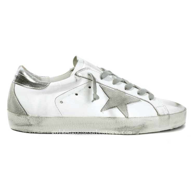 Golden Goose Deluxe Brand Men Superstar Sneakers In White Leather and Suede Star
