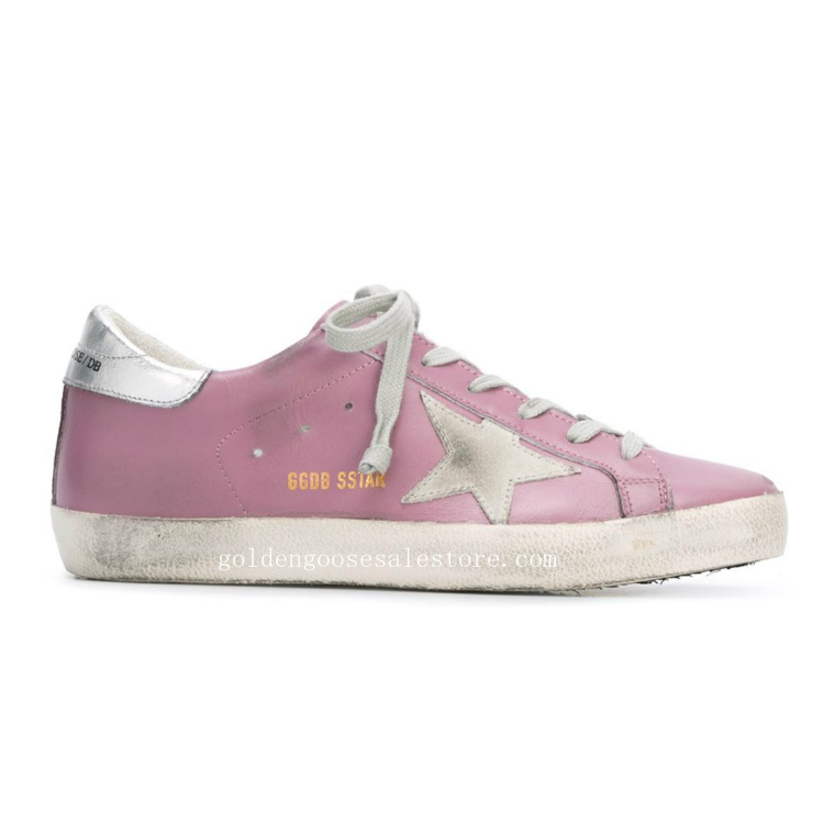 Golden Goose Deluxe Brand Superstar Sneakers Dark Lilac And Silver Tone Leather