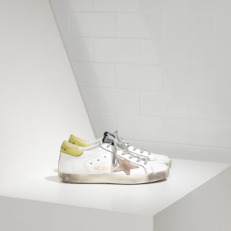 Golden Goose Deluxe Brand Women Super Star Sneakers In Leather With Suede Star G29WS590F99