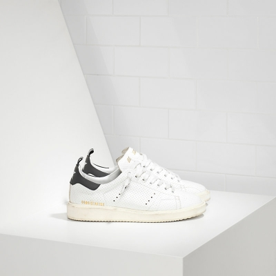 Golden Goose Deluxe Brand Starter Sneakers In Perforated Calf Leather